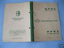 Opel Rekord 1200 Betriebsanleitung Sept. 1959 mit Kundendienst Urkunde