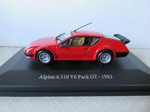 ALPINE A 310 V6 Pack GT 1983 rouge 1/43