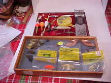 Large Vintage Lot Of Fishing Lures & other Items Arbogast Jitterbug Lake Clear W