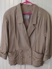 Palazzi~Women's N Zealand Leather Jacket/Coat~Crafted by Alpinewear~14~Tan