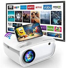 Mini Beamer Groview WiFi Heimkino 7000 Lumen Video Bildschirm 1080P Weiß B-WARE