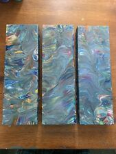 3 Acrylic Poured Abstract Paintings