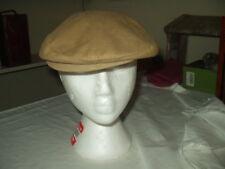 Vintage Beret Hat Size M Tan Corduroy