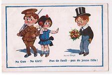 CPA Illustrateur Donald Mc Gill - NO GUN NO GIRL - FUSIL - SOLDAT