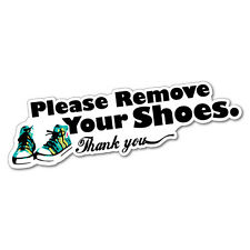 Please Remove Your Shoes Sticker Home Decals Stickers #5165EN-W