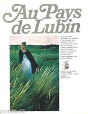 PUBLICITE ADVERTISING 105  1967  LUBIN  parfums GIN FIZZ NUIT DE LONGCHAMP
