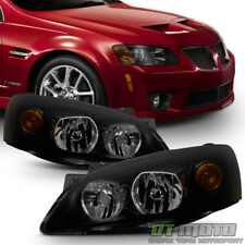 Black Smoke 2005-2010 Pontiac G6 GT Headlights Headlamps Aftermarket Left+Right