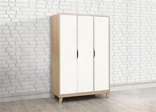 Birlea Kingston 3 Door Wardrobe Beech & White Scandia Modern Retro