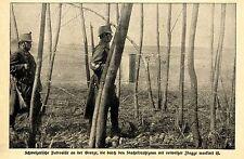 1915 Schweizer Grenzwacht * Schweizerische Patrouille an der Grenze *  WW1