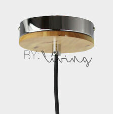 Wood Timber Chrome Ceiling Rose Bracket Canopy Ceiling  Mounting Mount Fixture