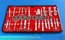 Set of 91 Pcs Circumcision Clamp Set Instruments Surgical Urology Surgery kit