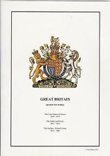 GB QV - The Line Engraved, Embossed and Surface Printed Issues - Album Pages