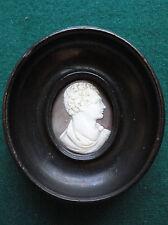 Antique Georgian Shell Cameo of English Romantic Byron in Profile
