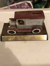 Model T Ford Club Of Greater St. Louis Presentation Bank On Wooden Stand.