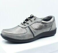 Baskets Tennis Chaussures Femme 36 37 38 39 40 41 42 - Gris Argent Noir Confort