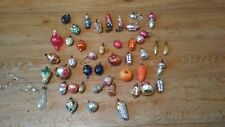 Lot of 45 glass Christmas tree toys of the USSR 1950-60s years.