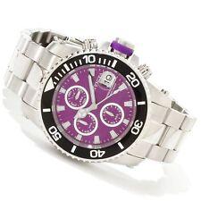 Invicta 11217 Pro Diver Purple Dial Quartz Chronograph Stainless Steel Bracelet