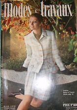Modes et travaux N° 831 Mars 1970 Mode vintage Patron Broderie Tricot Layette