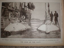 Printed photo subs fitted new device periscope 1903