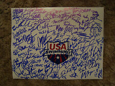 USA Swimming 2012 Signed Autograph 100+ Olympians NCAA Proof EXTRA RARE COA LOOK