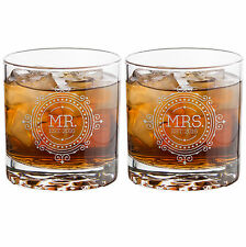 NEW! SET OF HIS & HERS Laser Etched Libbey Glasses + FREE SHIPPING Ends Oct 15th