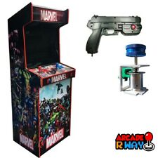 Hyperspin Arcade Machine With Light Gun Spinner Wireless Controller 50k+ Games