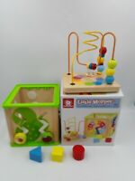 Top Bright Little Moppet Motor & Senses Skills  5 In 1 Activity Cube Wooden
