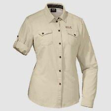 JACK WOLFSKIN Mosquito Safari womens shirt size UK 12/14 outdoor trekking beige