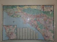 Thomas Bros map Southern California Arterial Map 1997 vintage item 80547laminate