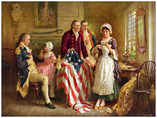 "18x24""poster on CANVAS.Room Interior art design.Creation of American flag.7462"