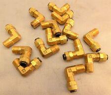 """Parker Fluid Connectors Poly-Tite Male Elbow 1/4"""" MC169P-4-2  , Lot of 14"""