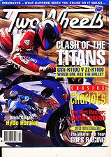 Two Wheels Magazine July 1995 Kawasaki ZZ-R1100 Suzuki GSX-R1100 Suzuki DR650