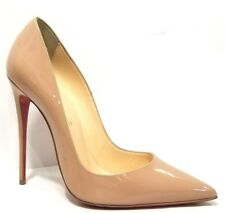 CHRISTIAN LOUBOUTIN SO KATE 120 NUDE PATENT LEATHER SHOES SZ 39.5/ 8.5