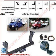 hinten Zwillingsräder Anhängerkupplung AHK ES13 MB Sprinter 1995-2006 Pritsche