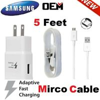 OEM Samsung Galaxy S6 S7 Edge+ Note 5 Original Fast Wall Charger Micro USB Cable