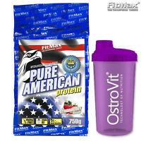 PURE AMERICAN Protein Powder 1.65 lb Whey Protein Shake BCAA Amino + FREE SHAKER