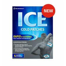 MENTHOLATUM ICE Cold X 4 PATCH Pain relief muscular aches sprains strain