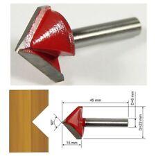 d=22mm 90° BARRE 6mm Fraise à rainurer en V  HM pour fraiseuse CNC Routeur
