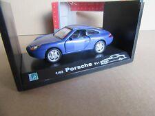15H Cararama Porsche 911 Coupé 996 Bleu 1:43