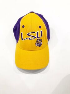Lsu Dad Hat Purple Yellow Tigers Strap Back Captivating Headgear Youth