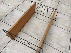 60er String Regal Leiterregal schwarz mit 2 Böden 60cm breit und 50 cm hoch