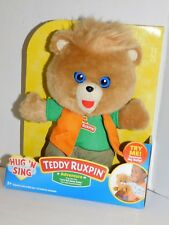Teddy Ruxpin Adventure Hug N Sing Plush Bear
