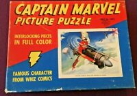 Captain Marvel Picture Puzzle 1941 Fawcett Publications - Scarce