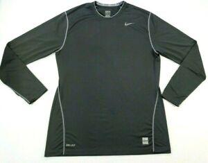 Nike Pro Combat Dri-Fit Long Sleeve Compression Shirt Black  Mens XL