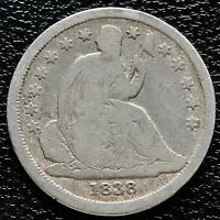 1838 Seated Liberty Dime 10c nice Early Date  #5985