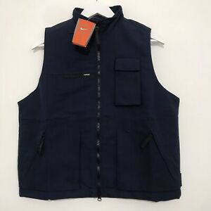 Vintage Nike Gilet Deadstock With Tags Y2K Era Navy Blue Fits As Men's XS/Small