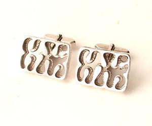 800er Silber Manschettenknöpfe - 21 Gramm massiv Design -   Silver Cufflinks