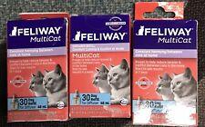 New listing 3 Feliway Multicat Diffuser Kit Pheromone Refills Constant Calming Cat Kitten