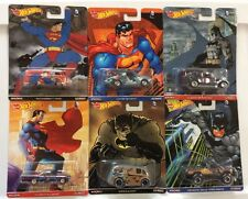 Hot Wheels Pop Culture Batman Superman Set of 6 Volkswagen Bus Power Wagon * 14A