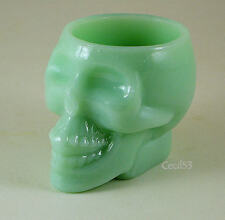 JADEITE JADITE SKELETON SKULL BAR VODKA SHOT GLASS